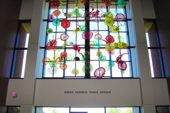 Susan Resneck Pierce Atrium - Chihuly window- Puget Sound.