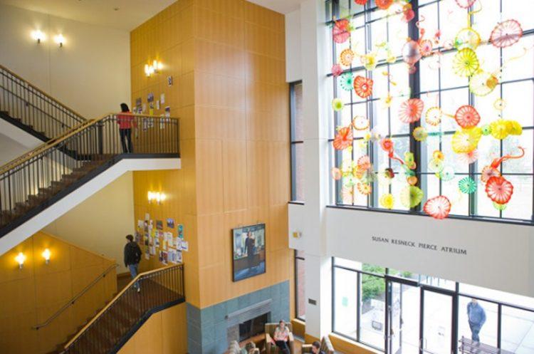Susan Resneck Pierce Atrium - Chihuly window- Puget Sound.